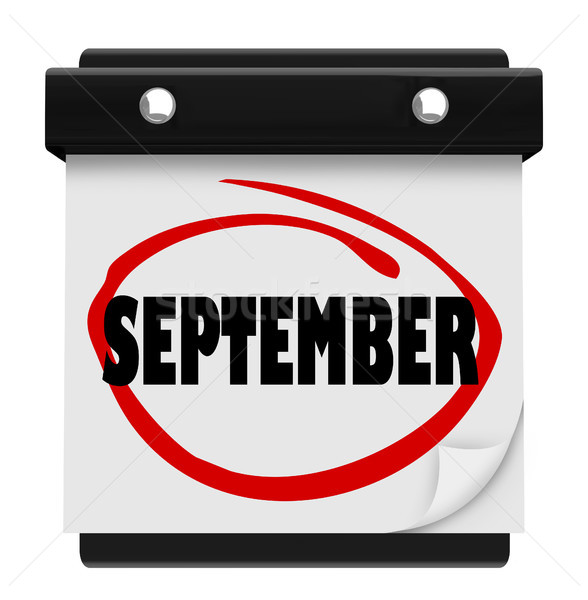 September Word Wall Calendar Change Month Schedule Stock photo © iqoncept