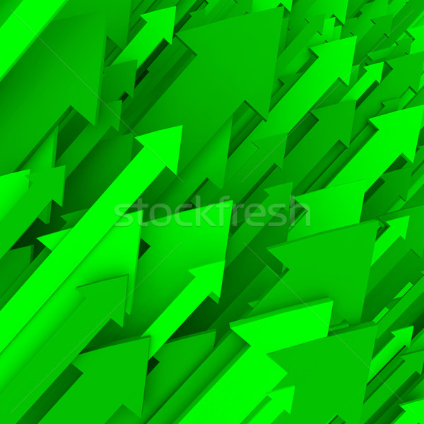 Green Arrow Background - Solid Stock photo © iqoncept