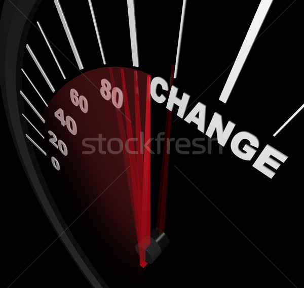 Racing Toward Change - Speedometer Stock photo © iqoncept