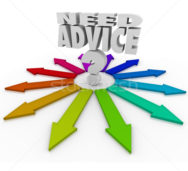 Need Advice Question Mark Arrows Help Choosing Path Stock photo © iqoncept