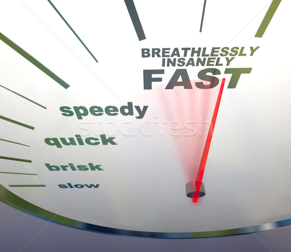 speedometer - slow to insanely fast Stock photo © iqoncept