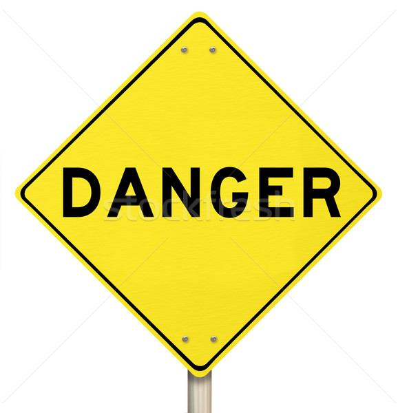 Yellow Warning Sign - Danger - Isolated Stock photo © iqoncept