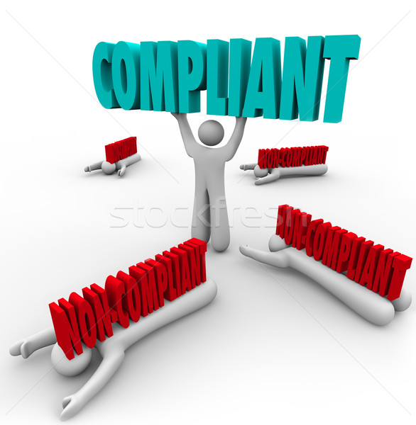 Compliant Vs Non-Compliance One Person Follows Rules Stock photo © iqoncept
