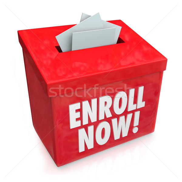 Enroll Now Enrollment Campaign Drive Entry Box Stock photo © iqoncept