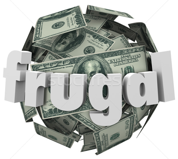 Frugal Money Ball Cheap Saving Cash Reduce Spending Stock photo © iqoncept