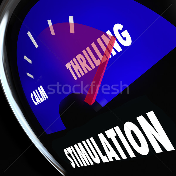 Stimulation Gauge Increasing Level Sexual Excitement Arousal Stock photo © iqoncept