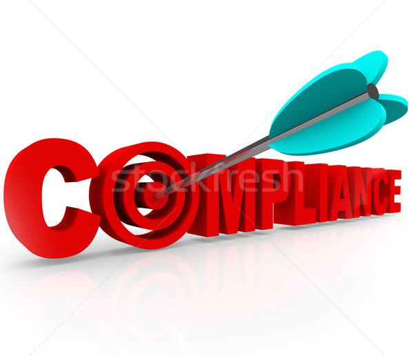 Compliance Target Aiming Follow Rules Laws Regulations Guideline Stock photo © iqoncept