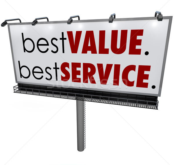 Best Value Service Billboard Sign Top Choice Advertising Stock photo © iqoncept