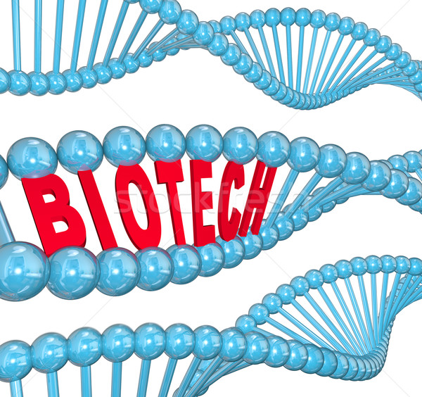 Biotech Word DNA Strand Medical Technology Research Lab Stock photo © iqoncept