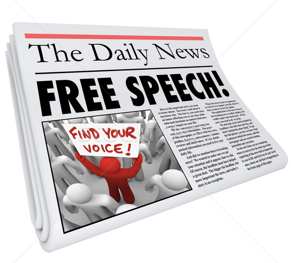 Free Speech Newspaper Headline News Media Journalism Press Stock photo © iqoncept
