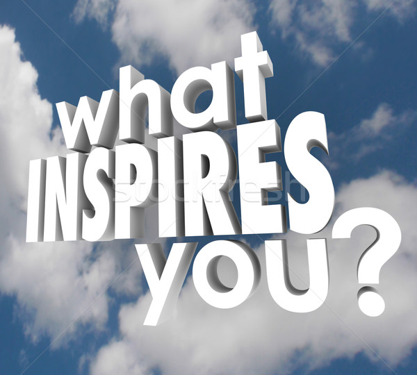 What Inspires You Question Spark Imagination Creativity Stock photo © iqoncept