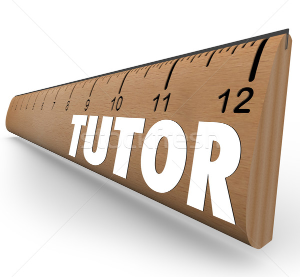 Tutor Ruler Measurement Learning Teaching Math Science Skills Stock photo © iqoncept