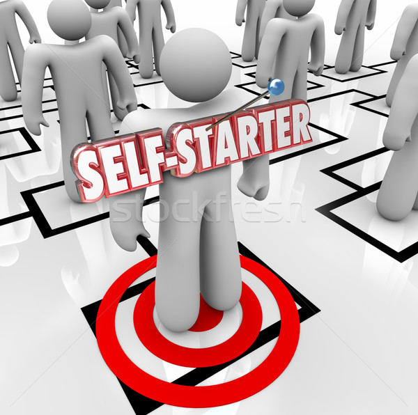 Self-Starter Employee Worker Organization Chart Initiative Ambit Stock photo © iqoncept