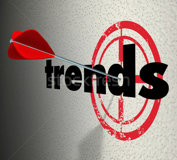 Trends Words Target Wall Fad Bulls-Eye Current Popular Product Stock photo © iqoncept