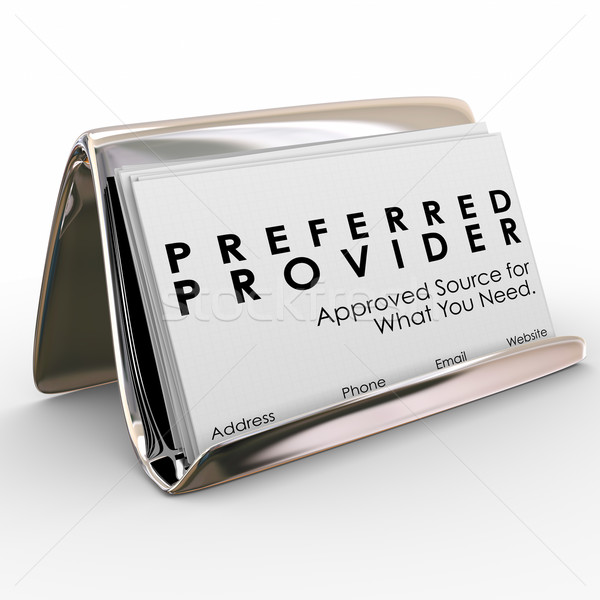 Preferred Provider Approved Vendor Business Cards Best Service Stock photo © iqoncept
