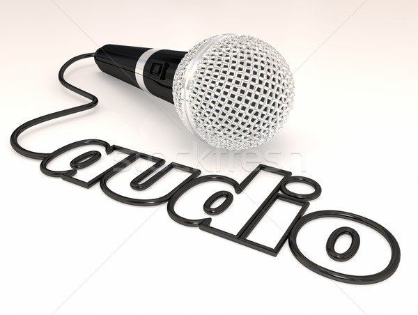 Audio Microphone Cord Sound Interview Mike Mic Word Stock photo © iqoncept