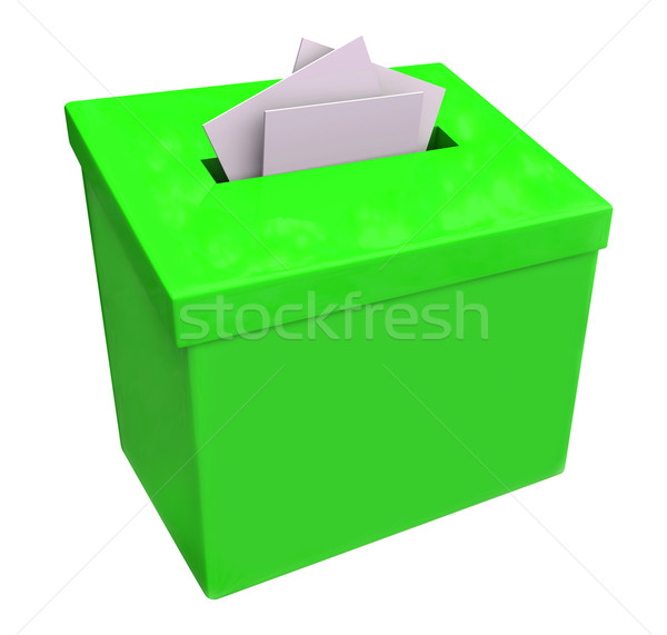 Green Suggestion Box Submit Ideas Comments Stock photo © iqoncept
