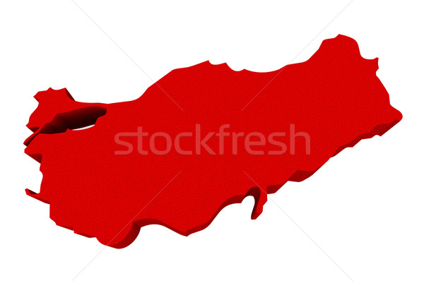 Red 3d Europe Asia Map Isolated Stock photo © iqoncept