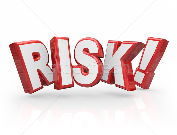 Risk Word 3d Letters Liability Danger Hazard Potential Stock photo © iqoncept