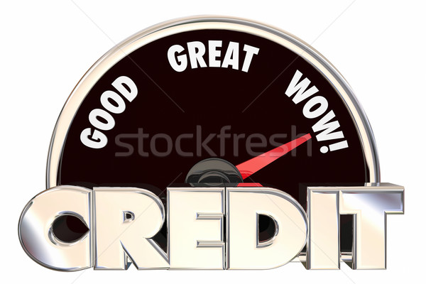 Credit Score Rating Speedometer Good Great Improved Borrow Loan  Stock photo © iqoncept