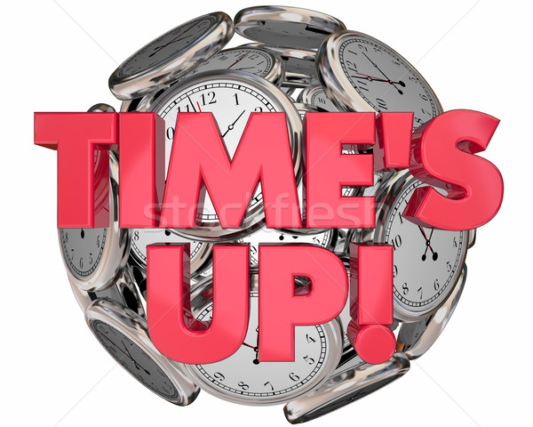 Times Up Clocks Sphere Ball Deadline End Session 3d Illustration Stock photo © iqoncept