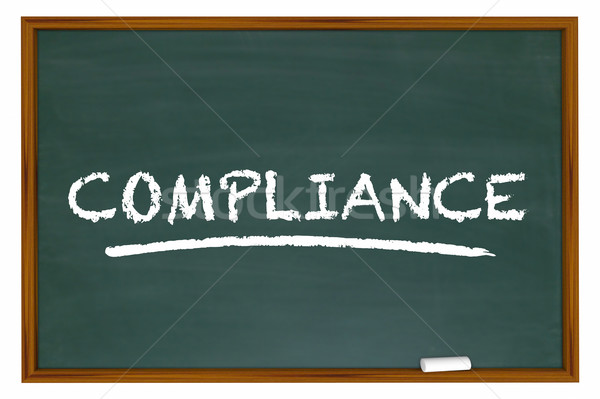 Compliance Training Education Rules Laws Chalkboard 3d Illustrat Stock photo © iqoncept