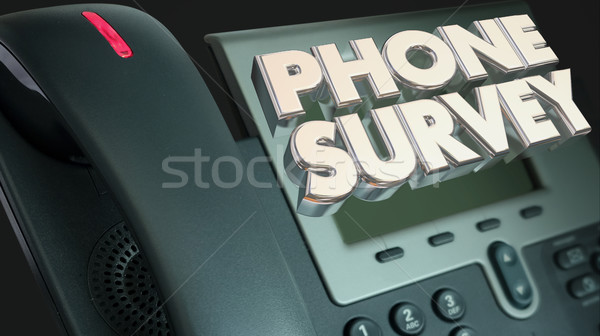 Phone Survey Ask Answer Questions Poll Respond 3d Illustration Stock photo © iqoncept