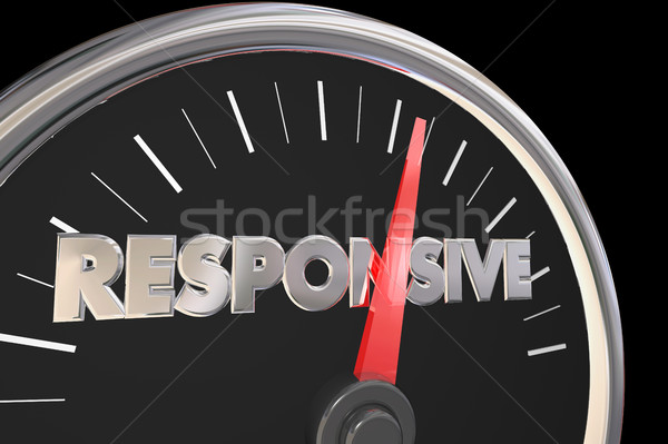 Responsive Speedometer Fast Service Attention 3d Illustration Stock photo © iqoncept