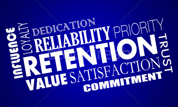 Retention Customers Employees Retain Staff Word Collage 3d Illus Stock photo © iqoncept