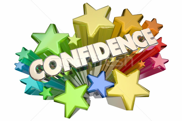 Confidence Self Assured Certain Word Stars 3d Illustration Stock photo © iqoncept