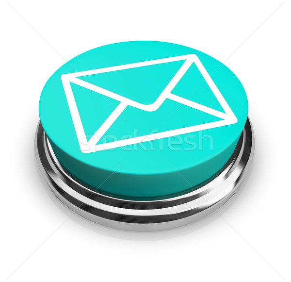 Email Envelope - Blue Button Stock photo © iqoncept