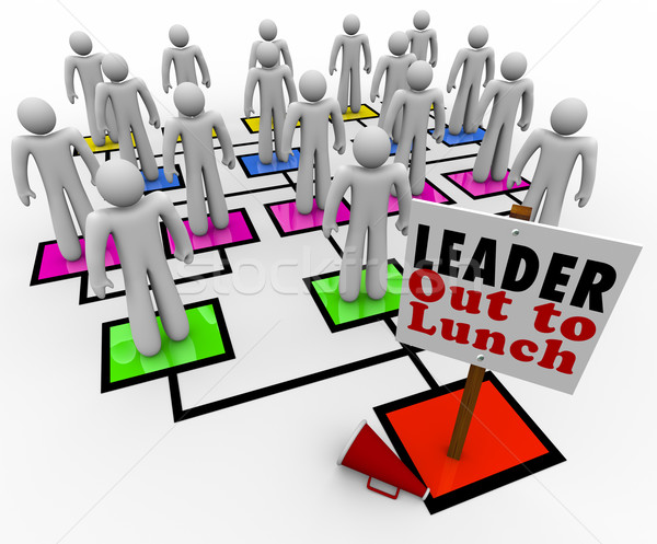 Leader Out to Lunch Missing Leadership Company Organization Char Stock photo © iqoncept