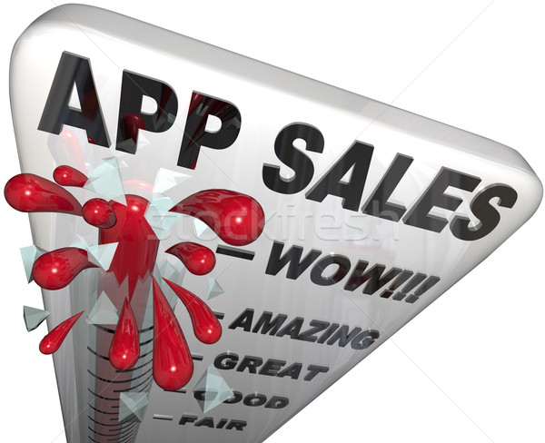 App Sales Thermometer Rising Revenues Apps Store Stock photo © iqoncept