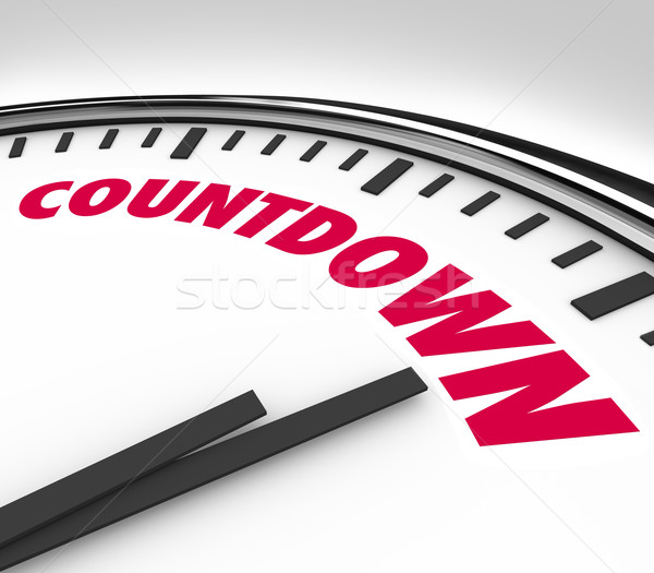 Countdown Clock Counting Down Final Hours and Minutes Stock photo © iqoncept