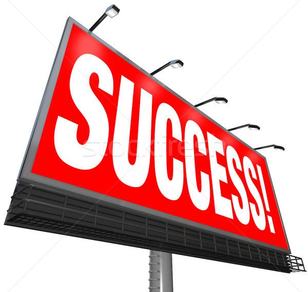 Success Word Outdoor Advertising Billboard Successful Goal Stock photo © iqoncept