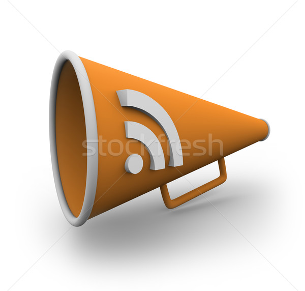 RSS Bullhorn 2 Stock photo © iqoncept