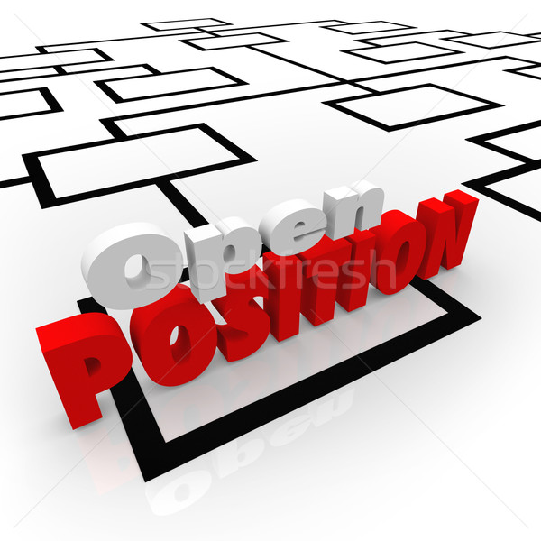 Open Position Job Opportunity Hiring Worker New Opening Stock photo © iqoncept