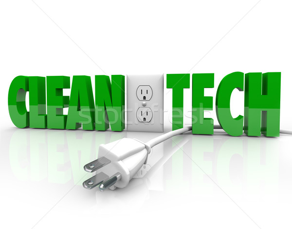 Clean Tech Power Plug Electrical Outlet Unplug Energy Source Stock photo © iqoncept