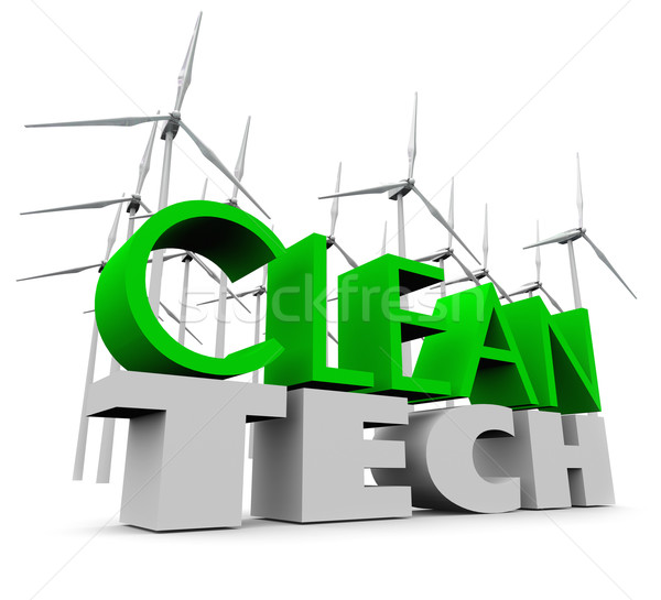Clean Tech Windmill Farm Renewable Energy Wind Turbines Stock photo © iqoncept