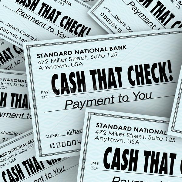Cash controleren geld betaling snel Stockfoto © iqoncept