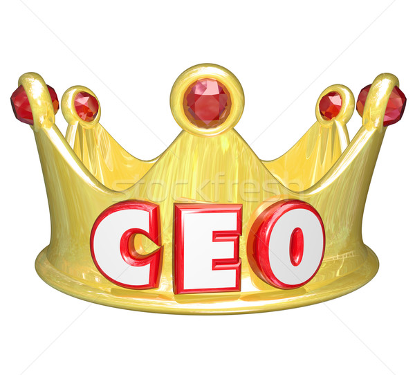Gold Crown CEO Chief Executive Officer Words Top Ruler Stock photo © iqoncept