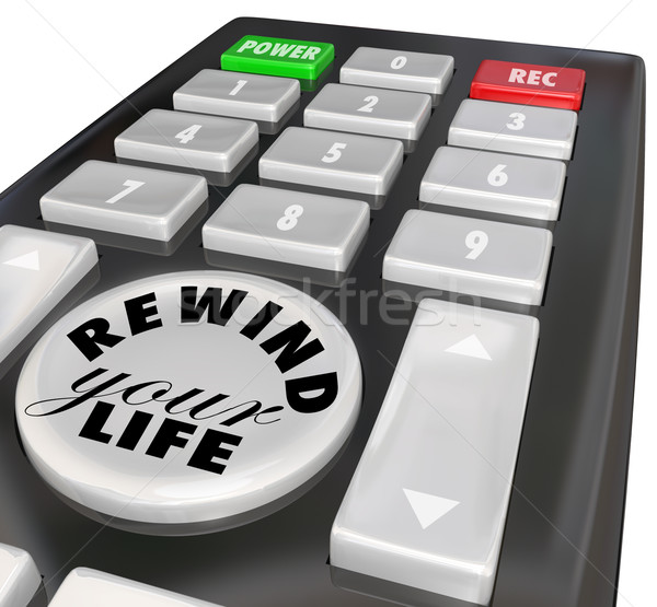 Rewind Your Life Fix Correct Problem Redo Bad Decision Stock photo © iqoncept