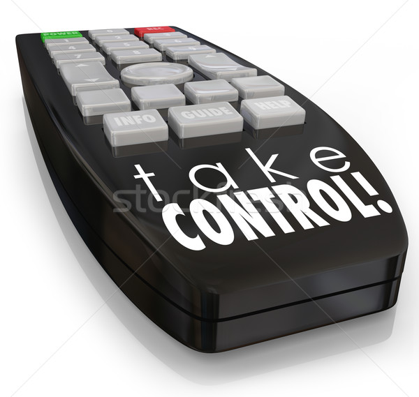 Take Control Remote Assertive Attitude Ambition Confidence Stock photo © iqoncept