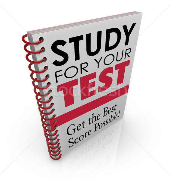 Study for Your Test Book Cover Title Best Grade Score Quiz Exam Stock photo © iqoncept