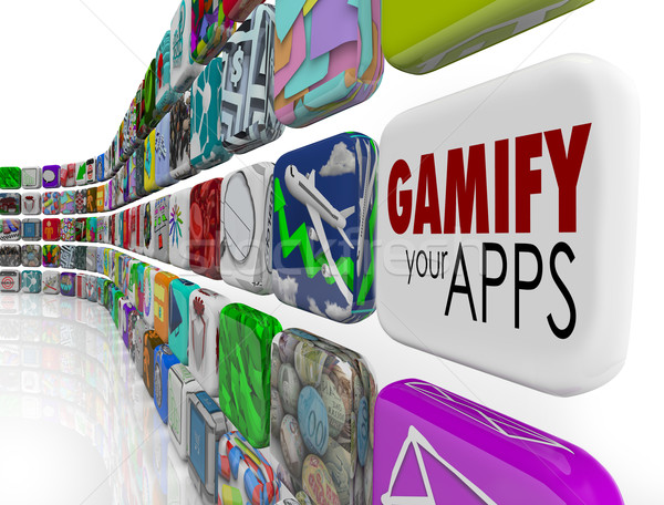 Gamify Your Apps Software Gamification Engage Retain Customers Stock photo © iqoncept