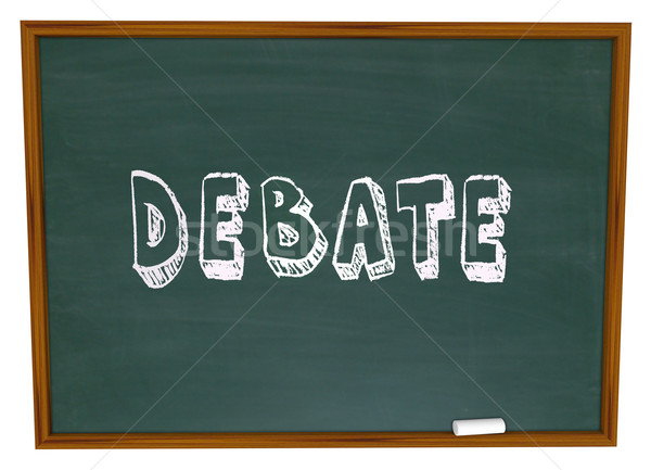 Stock photo: Debate Chalkboard Word Learning School Education Class