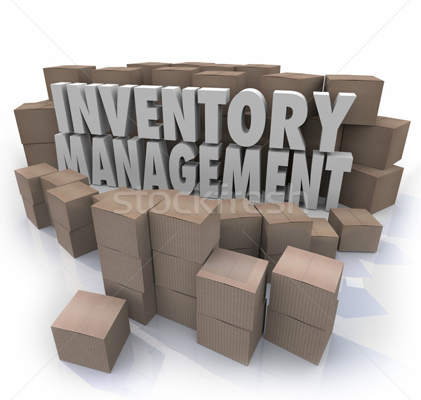 Inventory Management Words Logistic Supply Chain Control Boxes P Stock photo © iqoncept