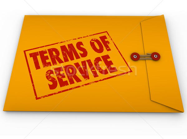 Terms of Service Yellow Envelope TOS Conditions Contract Restric Stock photo © iqoncept