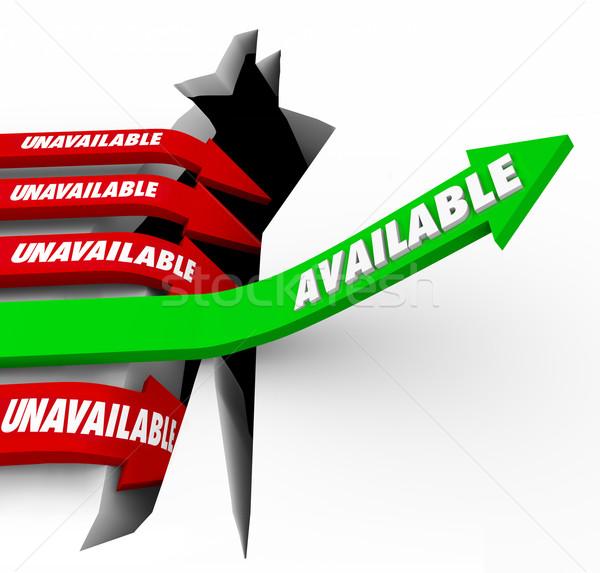 Available vs Unavailable Arrows Access Convenience Success Stock photo © iqoncept