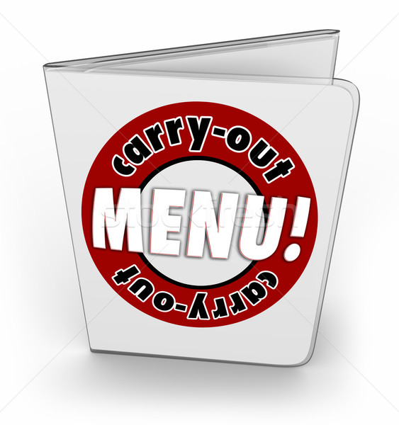 Carry-Out Menu Takeout Restaurant Convenient Service Order Stock photo © iqoncept